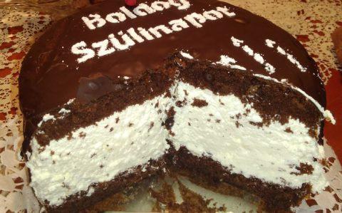 Túró rudi torta