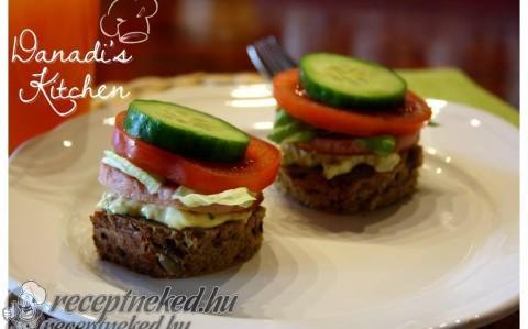 Mini szendvics reggelire