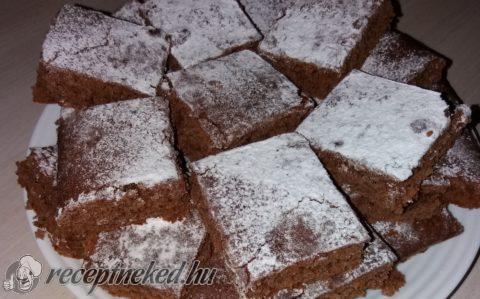 Lekváros-kakaós kavart süti