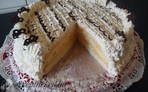 Madártej torta