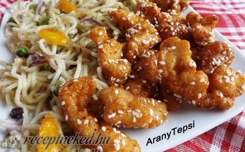 Kínai mézes-szezámmagos csirke