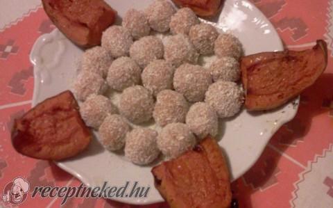 Kókuszos sütőtök golyók