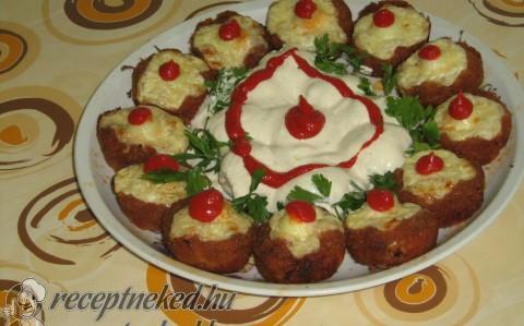 Fasírt muffin formában sütve