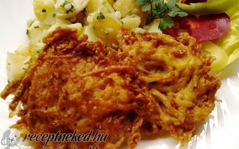Padlizsán szeletek krumplis, fokhagymás bundában