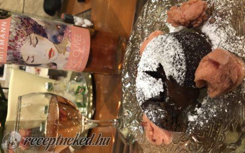 Csokis láva süti