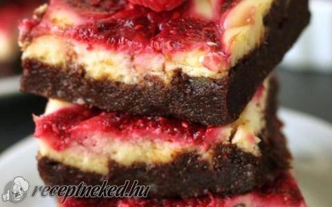 Málnás-krémsajtos brownie