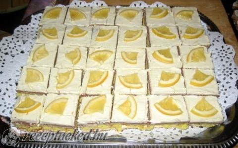 Vendégváró citromos szelet