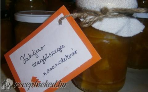 Fahéjas, szegfűszeges narancslekvár