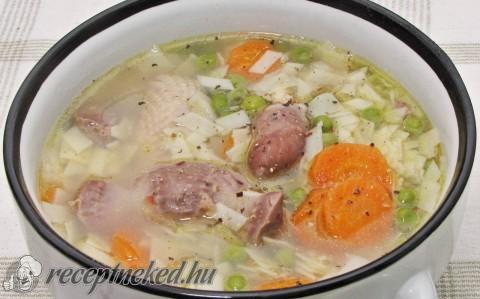 Csirkeaprólék leves