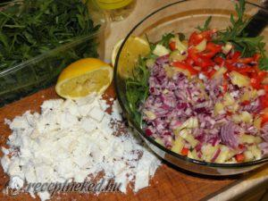 Kecskesajtos rukkola saláta 003