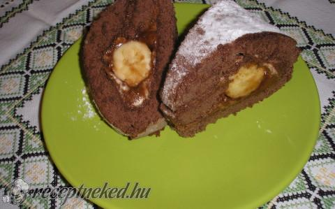 Chocremo banános tekercs