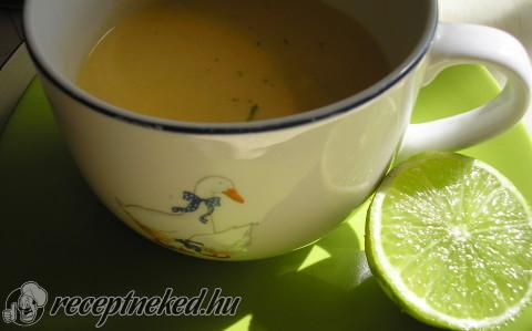 Lime-os cukordinnyekrém-leves