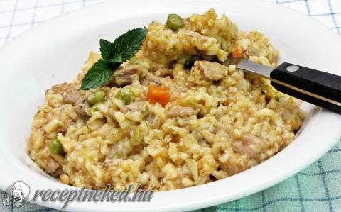 Zöldséges csirkemell rizottó