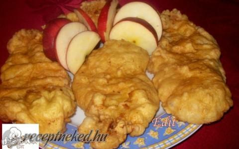 Almás palacsintatésztában sült karajszeletek