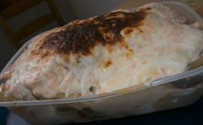 Sajtos rakott krumpli mikróban sütve