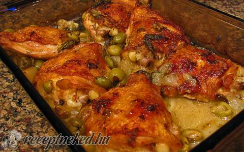 Mediterrán tepsis csirke