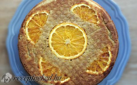 Felfordított polentás narancstorta