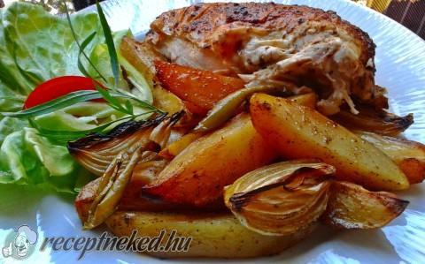 Vajas csirke egészben sütve