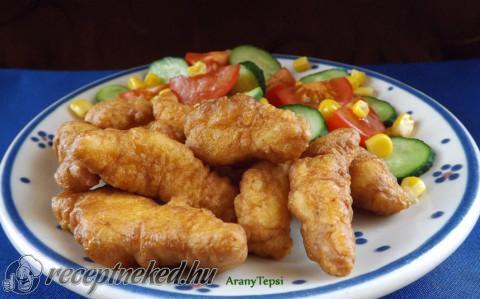 Csirkecsíkok fokhagymás-tejfölös bundában