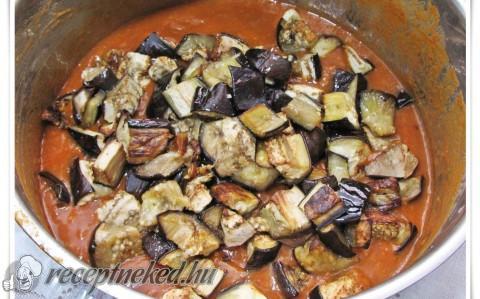 Perzsa padlizsános marharagu kurkumás jázmin rizzsel