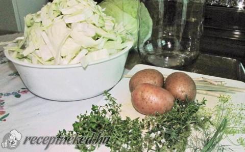 Kovászolt káposzta krumplival