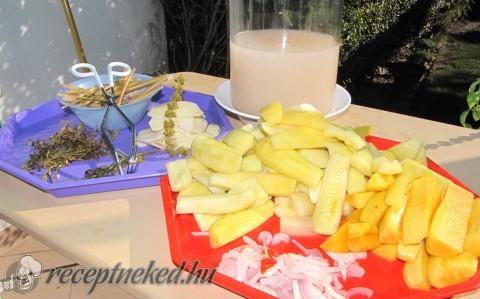 Krumplival kovászolt patisszon és tök