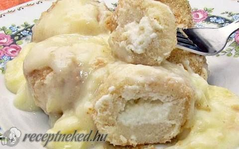 Túrós krumpligombóc vaníliasodóval