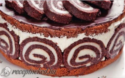 torta receptek és képek Keksztekercs torta recept Kati konyhájából   Receptneked.hu torta receptek és képek