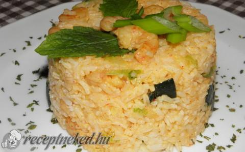Garnélarák rizzsel