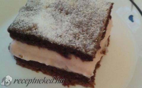 Tejfölös-pudingos sütemény
