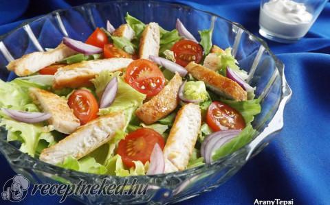 Egyszerű csirkés saláta