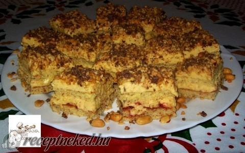 Mogyorós-karamellás sütemény