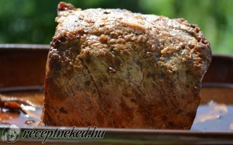 Pikáns marhahátszín egyben sütve