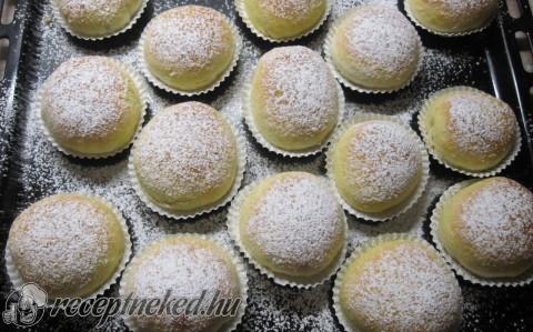 Nutellás muffin fánkok