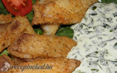 Sült hal spenótszósszal