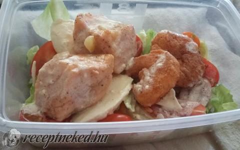 Lazac és garnélarák salátaágyon