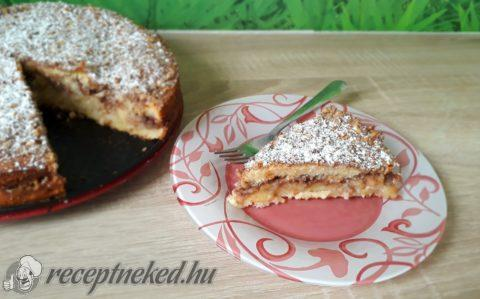 Almás-diós fahéjas gyors torta