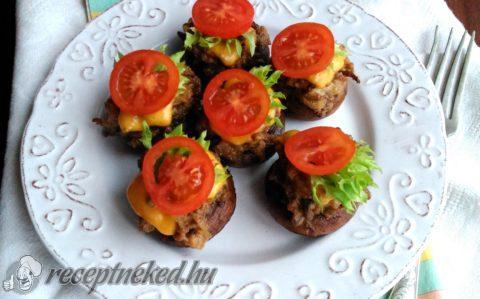 Mini sajtos gombaburger
