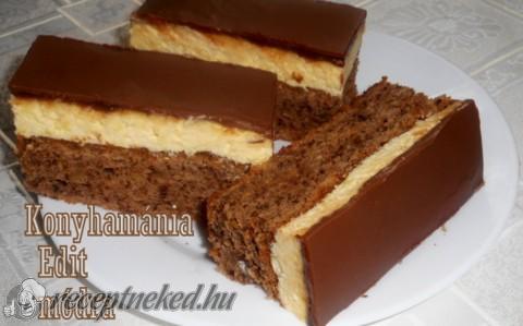 Diós, gesztenyés sütemény vaníliás krémmel