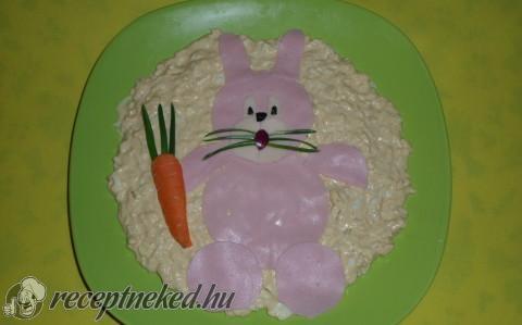 Tejfölös-majonézes tojáskrém nyuszival