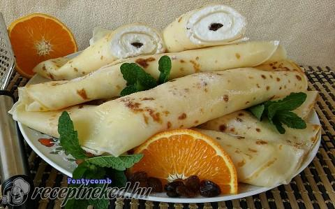 Narancsos-tejszínes túrós palacsinta