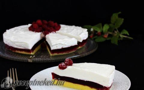 Málnazselés-tejfölhabos torta