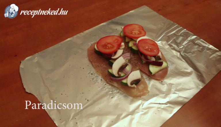 Zöldséges csirkemell diétásan recept konyhájából..