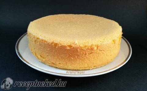 Egyszerű piskóta kis tortához