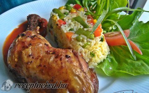 Chilis csirkecombok