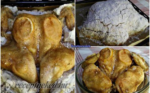 Sókéregben sült csirke