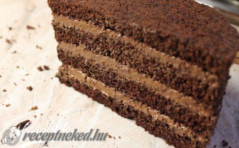 Csokoládé torta főzött krémmel