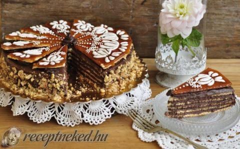 Dobos torta díszítő cukormázzal
