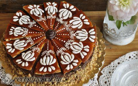 dobos torta képek Dobos torta díszítő cukormázzal recept Kovács Noémi konyhájából  dobos torta képek