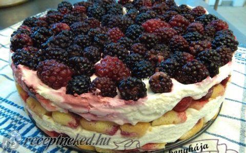 Epres, fekete szedres torta